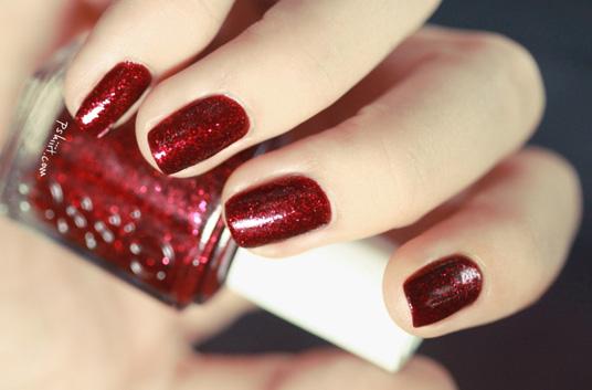 Vernis rouge à paillettes - Leading Lady par Essie