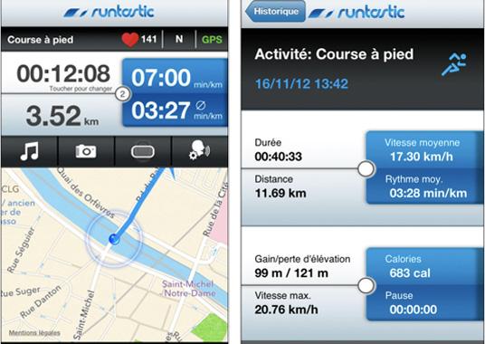Runtastic - application mobile running